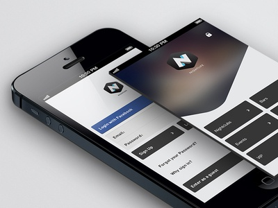 Nightlife 1.0 / 2.0 Login & Home pages - Redesign 4