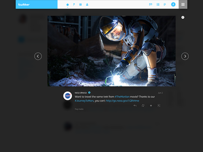 Twitter redesign | Image shadow box