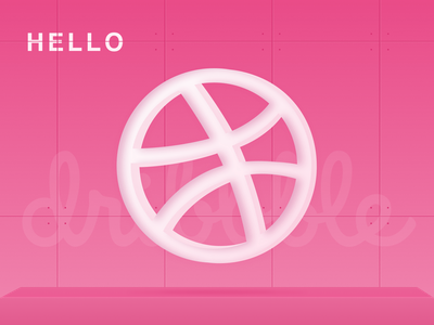 Hello dribbble design logo hello dribble