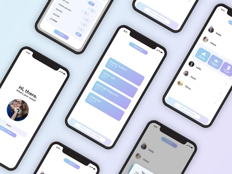 Don't Trust Your Mother - UI showcase app gradient layout iphone ui