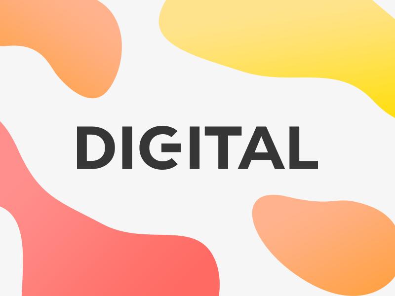 DIGITAL - a logo concept design ui typography branding vector gradients fluid flat gradient colors color clean logo