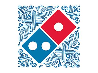 Dominos Pasta Logo branding woodcut pasta roger xavier dominos pizza scratchboard logo