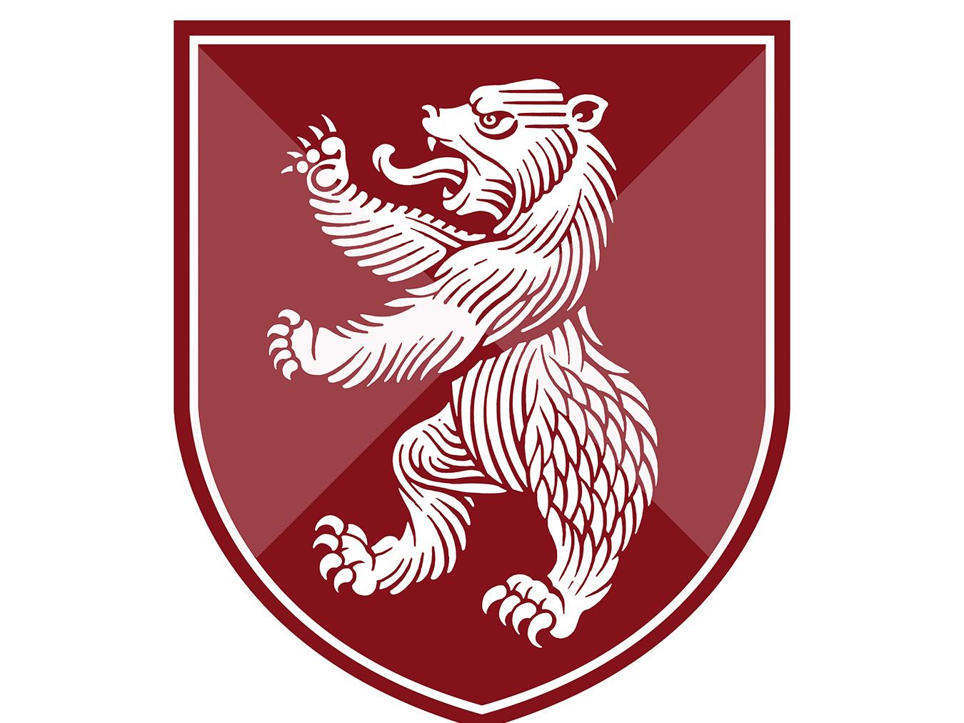 Bear Shield shield heraldry bear branding woodcut roger xavier scratchboard