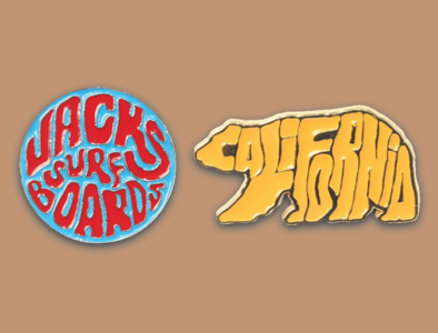 Enamel Pins for Jack's Surfboards