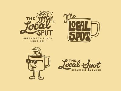 The Local Spot Logo Pack branding and identity restaurant branding breakfast coffee surfing restaurant california lettering type identity hand drawn typography logo illustration design branding