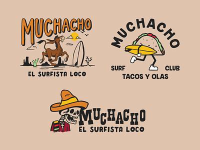 T-shirt Graphics - Muchacho surf apparel california illustrator identity hand drawn vector apparel graphics apparel design branding illustration design