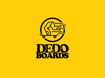 Dedo Boards Logo skateboard apparel design logo logo design adobe illustrator design