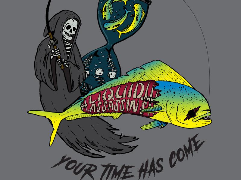 """Your Time Has Come"" Liquid Assassins T-shirt identity illustrator type lettering typography hand drawn logo vector illustration design branding"