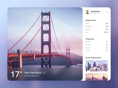 Weather App (Concept) bridge icons weather app shadows flat date calendar clean concept ux ui san francisco weather app