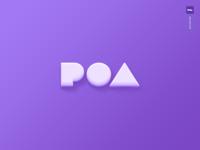 Poa Logo 3d