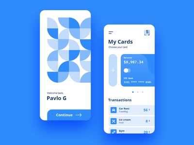 Wallet App illustration card banking bank finance shadow ipad iphone ios icon flat app