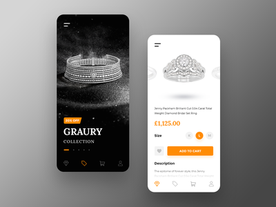 Jewellery Shop (Concept) jewellery store mobile shopping app crown heart cartoon shop ring jewellery