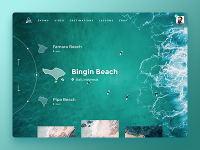 Landing Page for Surfing Camps