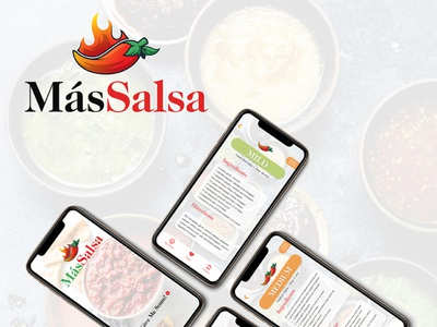 MásSalsa - UI/iOS Kit ux design recipe app recipe ux  ui businessbrand ui  ux salsaapp salsa foodapp food foodui adobexd adobe xd branding uxdesigner uxdesign uxui ui design ui