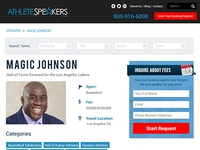 Speaker Profile Page