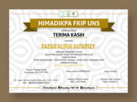 Certificate - design