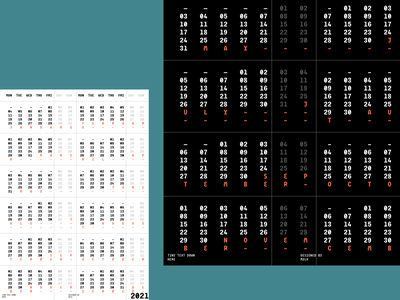2021 Calendar poster design minimal wall graphic design graphic purchase print poster calendar design
