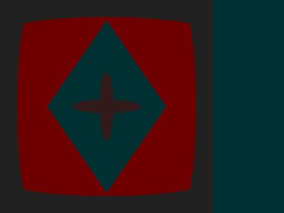 Retrograde colours inaccessible minimal design graphic
