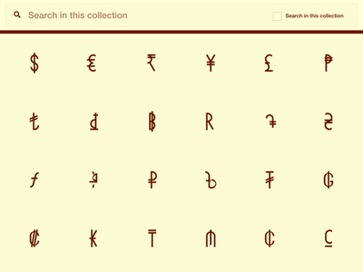 Currency Icon Set brutalism design kit money graphics project noun download icons symbol currencies currency pack icon