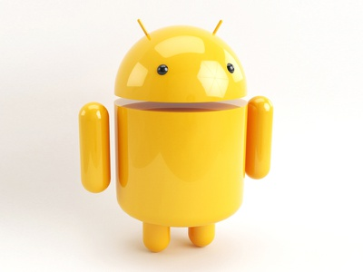 Yellow Droid android droid yellow 3d cinema4d c4d