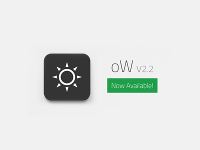 Weather App oW 2.2 Now Available! ow weather forecast iphone iphone5 ios7 new app application