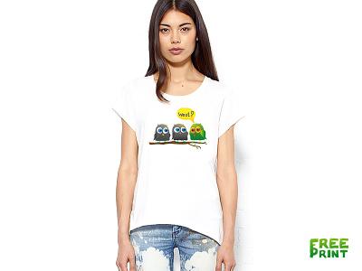 "Print on a T-shirt ""Owl's"" owl owls t-shirt print woot men woman"