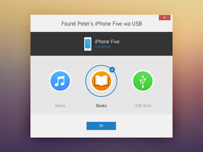 Phone Stick / Found iPhone Screen  application popup phonestick sync apple iphone app screen
