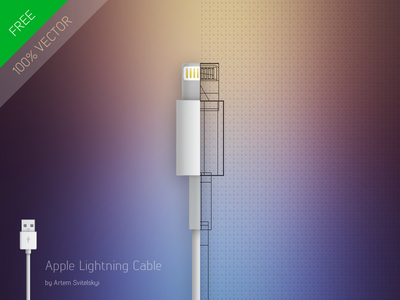 Phone Stick / Design Apple Lightning Cable apple free iphone ai phonestick psd cable download vector source