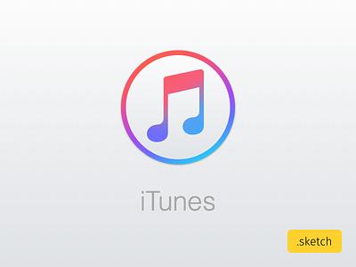 New iTunes 12.2 Icon sketchapp icon applemusic music apple itunes sketch