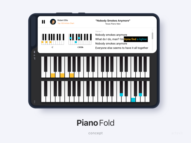 Piano Fold App application concept book musicapp pianist music samsung app piano fold galaxy