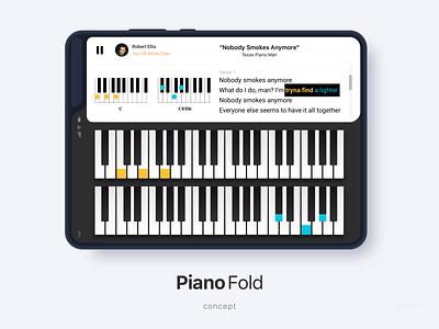 Piano Fold App application concept book musicapp pianist music samsung app piano fold galaxy