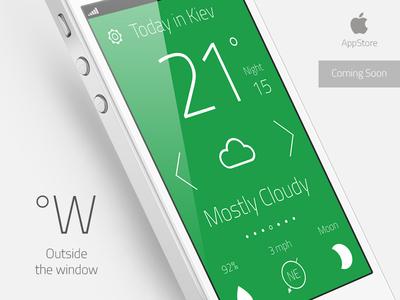"Weather App ""Outside the window"""