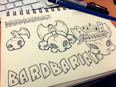 Bardbarian Logo Sketches