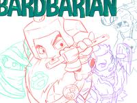 Bardbarian Title Sketch