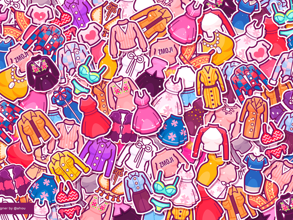 Clothes for new year icon app illustration drawing design