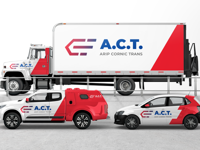 ACT - Transport Company Logo mockup delivery fast car truck transport logo branding design graphic