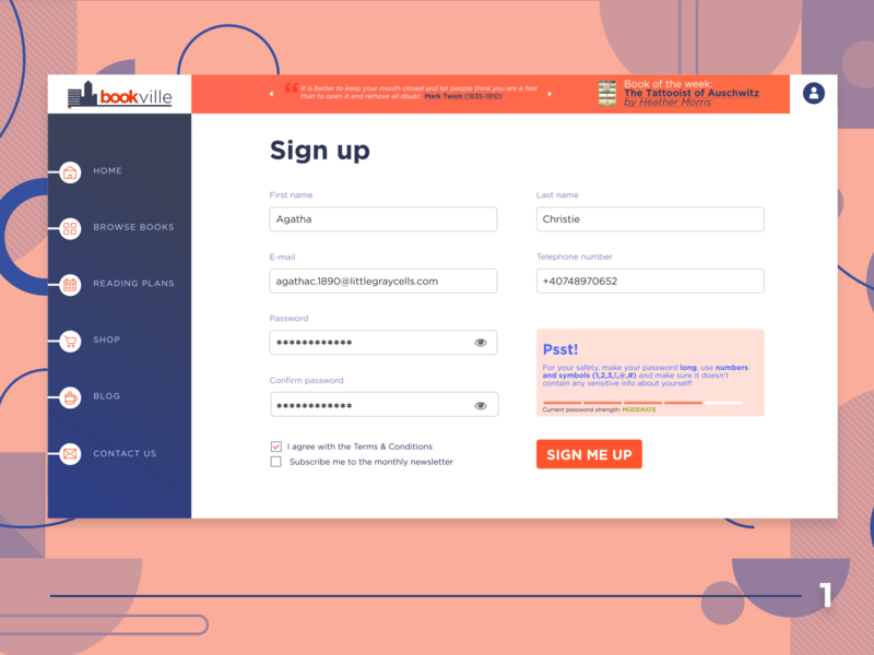 DUI #1 - Sign Up Page