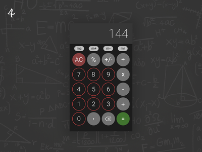 DUI #4 - Calculator numbers maths math daily ui 004 dailyui dark mode calculator app calculator ui graphic design