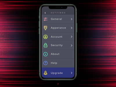 DUI #007 - Settings Screen