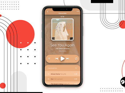 DUI #009 - Music Player music app daily ui 009 daily ui sound song player music app ui ux elegant christian graphic design