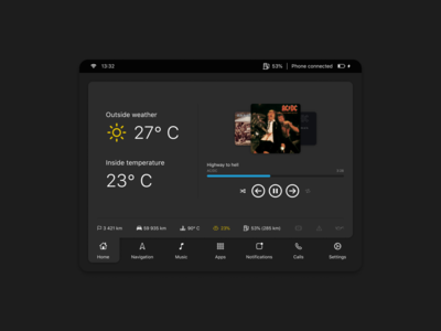 Weekly UI 4 — Car Interface