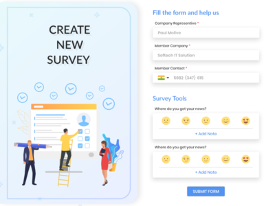 Create New Survey Form Design