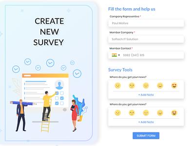 Create New Survey Form Design fields emoji theme colors developer sketch designer design surveyform form