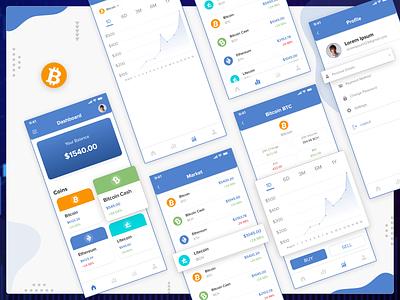 Digital Coin App Design cardboard ux design mobileapp design bitcoins bitcoin digital uiux ui