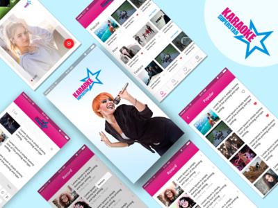 Karaoke Superstar Mobile App Design