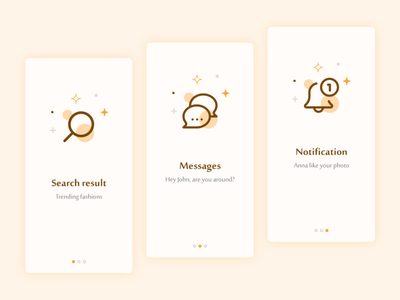 Notification || Message || Search Result icon design