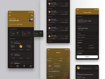 Wallet App Mock-up designing ui mobileui design coin bitcoin wallet app mockup mockup design