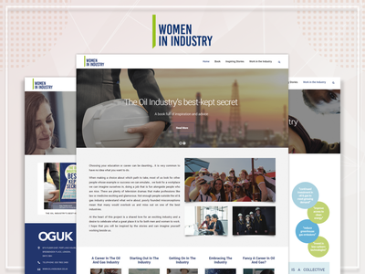 Women in Industry - Website Design design art designing wordpress development women in tech oil and gas industry women themes website wordpress