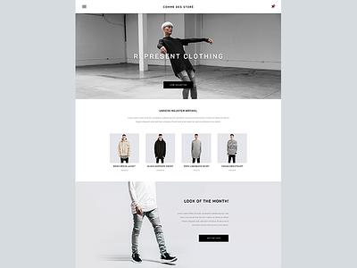 E-Commerce Fashion Store ux ui web material material design simple clean minimal ecommerce shop store fahion