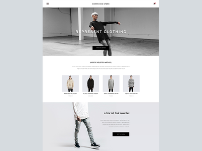 E-Commerce Fashion Store ux ui web material material design simple clean minimal ecommerce shop store fahion
